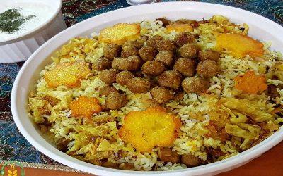 رسپی کلم پلو شیرازی