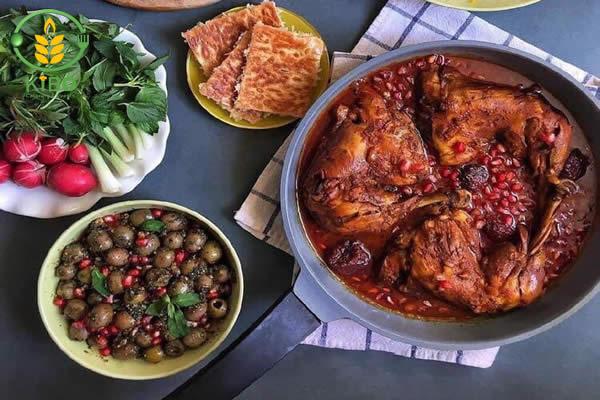 طرز تهیه مرغ ناردونی